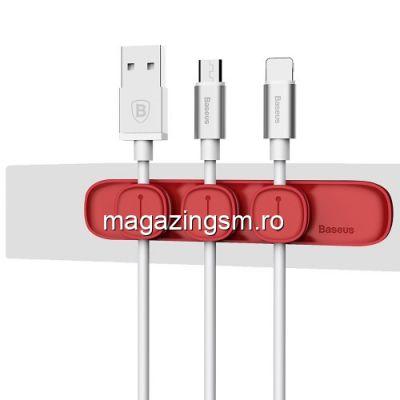 Adaptor Tip Suport Cablu iPhone Samsung Huawei Universal Rosu