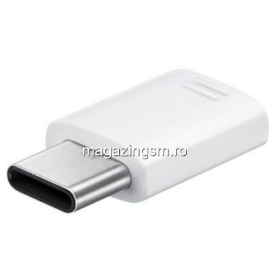 Adaptor USB Type-C - MicroUSB Samsung EE-GN930BW Alb
