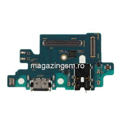 Banda Flex Conector Incarcare Mufa Jack 3,5 mm Si Microfon Samsung Galaxy A40 A405