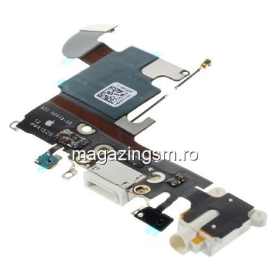 Banda Flex Conector Incarcare Si Jack Audio Apple iPhone 6s Alba