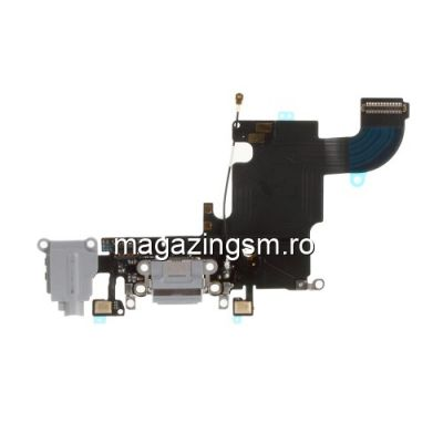 Banda Flex Conector Incarcare Si Jack Audio Apple iPhone 6s Gri Inchis