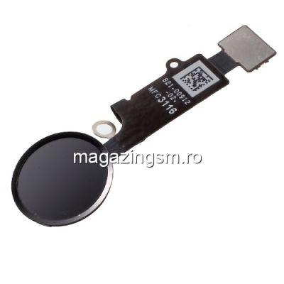 Banda Flex Cu Buton Meniu iPhone 7 / 7 Plus Negru