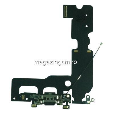 Banda Flex Cu Conector Incarcare, Microfon Si Antena Semnal iPhone 7 Plus Originala Neagra