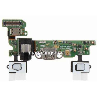 Banda Flex Cu Conector Incarcare Samsung Galaxy A3 A300F Originala