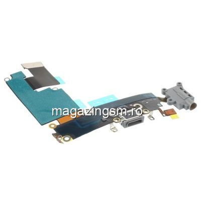 Banda Flex iPhone 6 Plus Cu Conector Incarcare Microfon si Jack Audio Gri Originala