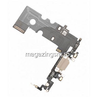 Banda Flex iPhone 8 Cu Conector Incarcare si Microfon Aurie