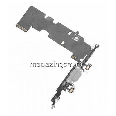 Banda Flex iPhone 8 Plus Cu Conector Incarcare si Microfon Alba
