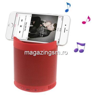 Boxa Portabila Cu Conexiune Wireless Bluetoot, Microfon Si Slot TF Card Cu Suport Pentru Telefon Rosie
