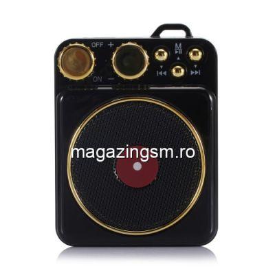 Boxa Portabila Wireless Bluetooth Universala Retro Neagra