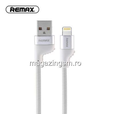 Cablu Date Si Incarcare iPhone 5 5c 5s 6 6 Plus 6s 6s Plus 7 7 Plus 8 8 Plus X REMAX Alb