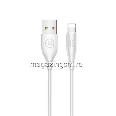 Cablu Date Si Incarcare iPhone 5 5s 5c 6 7 8 Xs X Xr 1m Alb