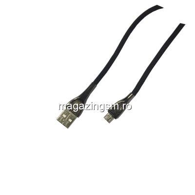 Cablu Date Si Incarcare Universal Samsung Huawei Nokia LG Allview Textil Negru