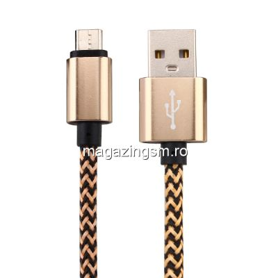 Cablu De Date Si Incarcare Samsung MicroUSB Auriu