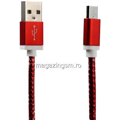 Cablu De Date Si Incarcare Samsung MicroUSB Rosu