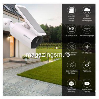 Camera WIFi Solara  960p  PIR  Alb