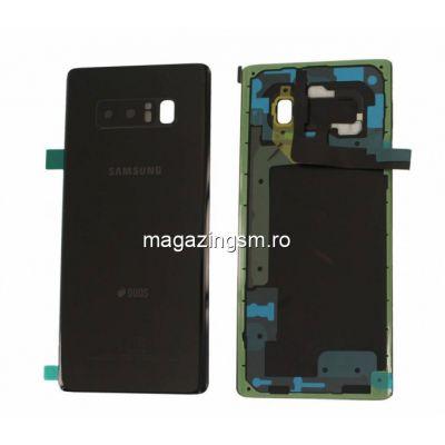 Capac Baterie Samsung Galaxy Note 8 N950 Negru Black Original Complet cu Ornamente