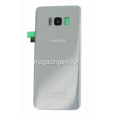Capac Baterie Samsung Galaxy S8 G950 Arctic Silver Original Complet cu Ornamente