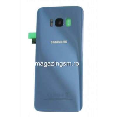 Capac Baterie Samsung Galaxy S8 G950 Albastru Blue Original Complet cu Ornamente