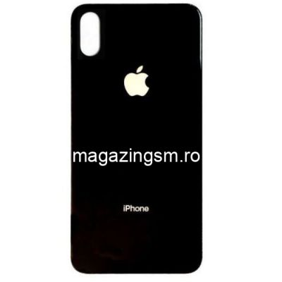 Capac Baterie Spate iPhone X Cu Adeziv Sticker Negru