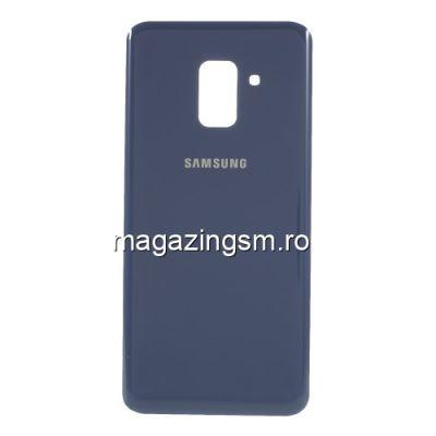 Capac Baterie Spate Cu Adeziv Sticker Samsung Galaxy A8 2018 A530 Albastru