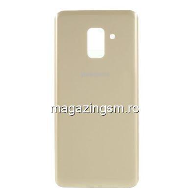 Capac Baterie Spate Cu Adeziv Sticker Samsung Galaxy A8 2018 A530 Auriu