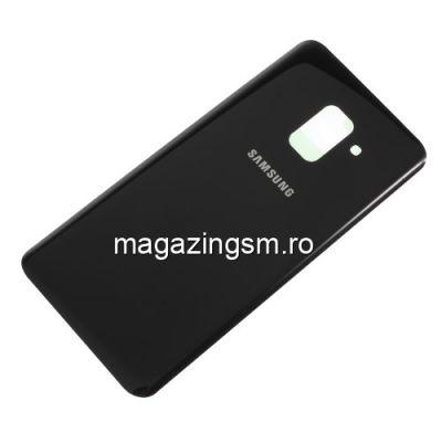 Capac Baterie Spate Samsung Galaxy A8 A530 2018 Cu Adeziv Sticker Negru