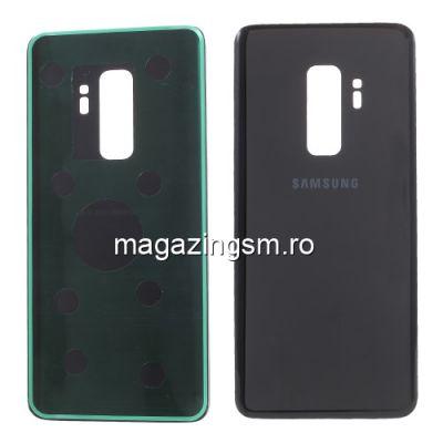 Capac Baterie Spate Cu Adeziv Sticker Samsung Galaxy S9 Plus SM G965 Negru