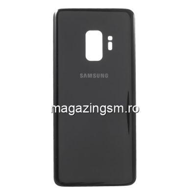 Capac Baterie Spate Cu Adeziv Sticker Samsung Galaxy S9 SM G960 Negru
