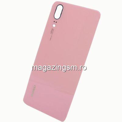 Capac Baterie Spate Huawei P20 Cu Adeziv Sticker Roz