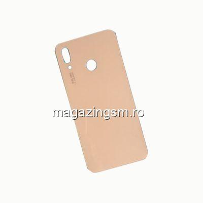 Capac Baterie Spate Huawei P20 Lite Cu Adeziv Sticker Roz