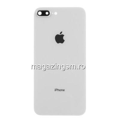 Capac Baterie Spate iPhone 8 Plus Cu Ornament Camera Alb