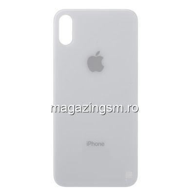 Capac Baterie Spate iPhone X Cu Adeziv Sticker Alb