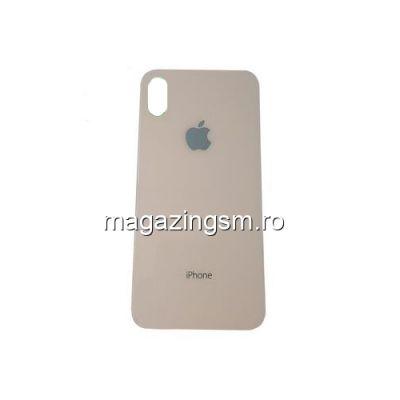Capac Baterie Spate iPhone X Cu Adeziv Sticker Auriu
