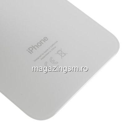 Capac Baterie Spate iPhone XR Cu Ornament Camera Alb