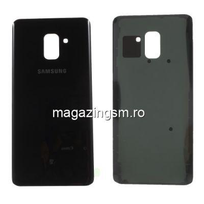 Capac Baterie Spate Samsung Galaxy A8 Plus 2018 Cu Adeziv Sticker Negru