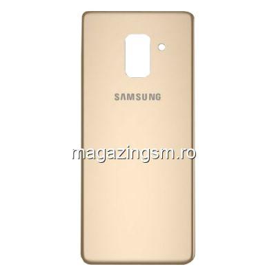 Capac Baterie Spate Samsung Galaxy A8 Plus A730 2018 Cu Adeziv Sticker Auriu