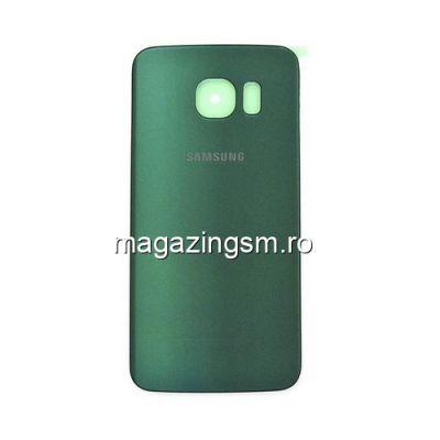 Capac Baterie Spate Samsung Galaxy S6 Edge G925 Cu Adeziv Sticker Verde