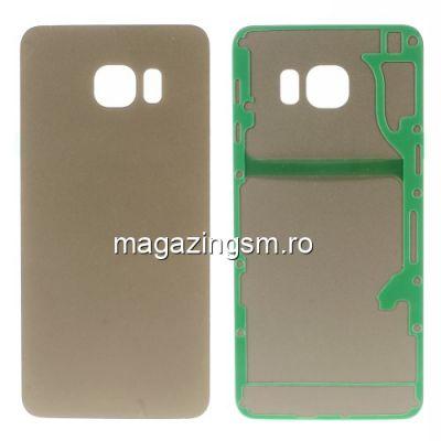 Capac Baterie Spate Samsung Galaxy S6 edge Plus G928 Cu Adeziv Sticker Auriu