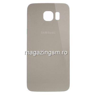 Capac Baterie Spate Samsung Galaxy S6 G920 Cu Adeziv Sticker Auriu