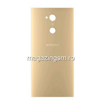 Capac Baterie Spate Sony Xperia XA2 Ultra Cu Adeziv Sticker Auriu