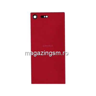 Capac Baterie Spate Sony Xperia XZ Premium Cu Adeziv Sticker Rosu