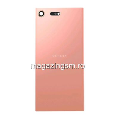 Capac Baterie Spate Sony Xperia XZ Premium Cu Adeziv Sticker Roz