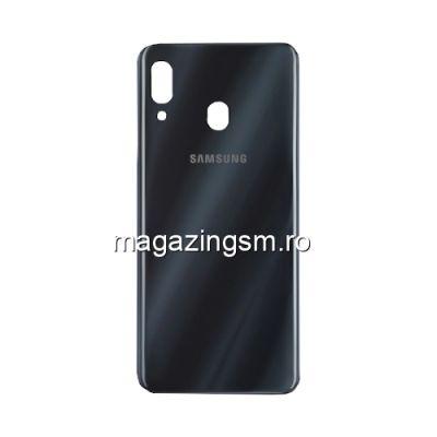 Capac Samsung Galaxy A30 A305 Baterie Spate Negru