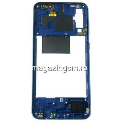Carcasa Corp Mijloc Cu Butoare On / Off Samsung Galaxy A50 A505 Albastra