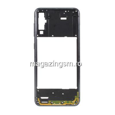 Carcasa Corp Mijloc Cu Butoare On / Off Samsung Galaxy A50 A505 Neagra