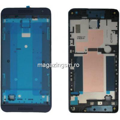 Sasiu Carcasa Mijloc HTC Desire 610 Original Albastru