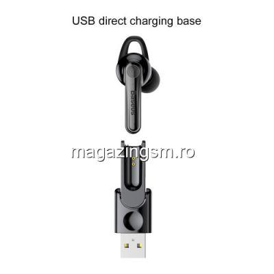 Casca Wireless Bluetooth Cu Microfon Stereo LG Asus Huawei Samsung Magnetica BASEUS Neagra