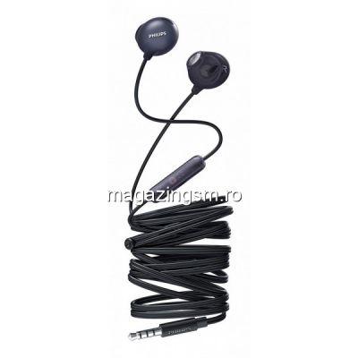 Casti audio Philips UpBeat SHE2305BK/00, intraauriculare, microfon incorporat, izolare fonica, lungime cablu 1,2m, Negru