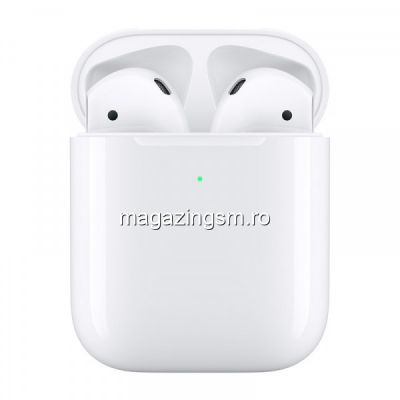 Casti Bluetooth Apple AirPods 2 True Wireless Alb