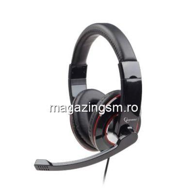Casti cu microfon Gembird MHS-001 Negru
